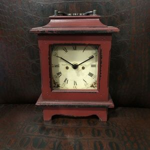 Walt Scott Lauder Red Wood Clock - Holiday Decor!